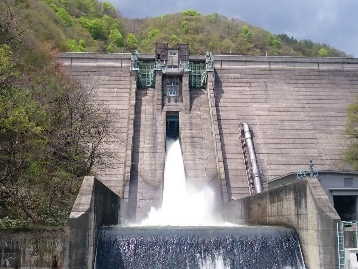 奥裾花ダムとダムカレー